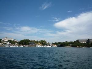 石山荘から賢島を写した写真です。